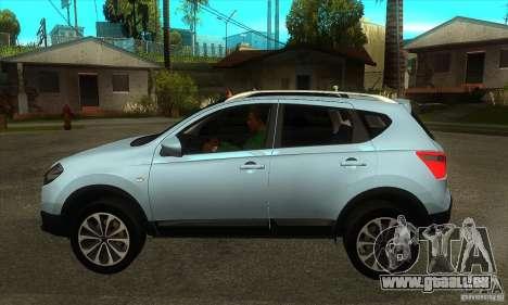 Nissan Qashqai 2011 pour GTA San Andreas laissé vue