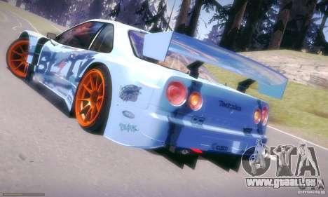 Nissan Skyline Touring R34 Blitz pour GTA San Andreas laissé vue
