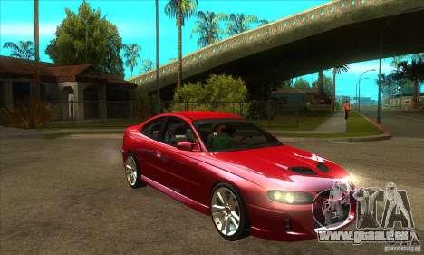 Holden Monaro CV8-R für GTA San Andreas Rückansicht