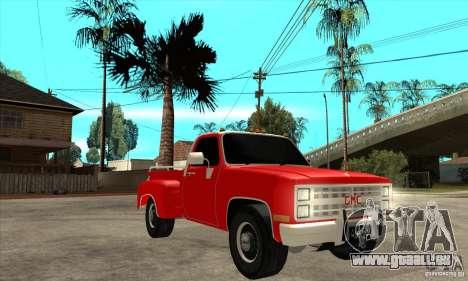 GMC 454 PICKUP pour GTA San Andreas vue arrière
