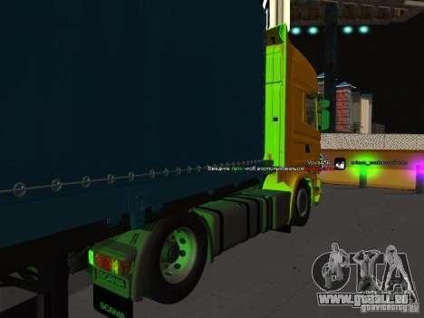 Scania R620 pour GTA San Andreas laissé vue