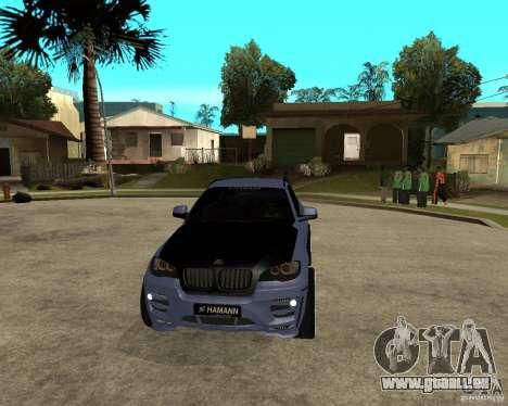 BMW X6 M HAMANN pour GTA San Andreas vue arrière
