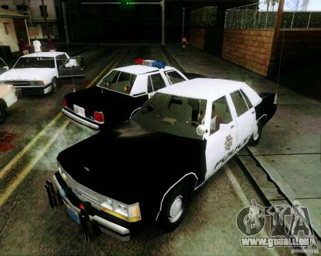 Ford Crown Victoria LTD 1991 LVMPD für GTA San Andreas obere Ansicht