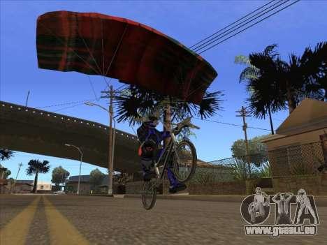 Parachute pour bajka pour GTA San Andreas troisième écran