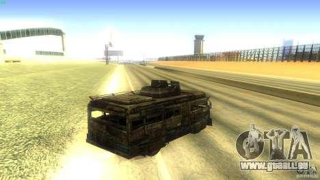 Frontline - MilBus für GTA San Andreas zurück linke Ansicht