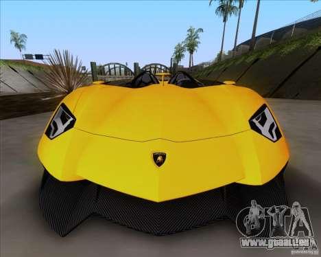 Lamborghini Aventador J TT Black Revel pour GTA San Andreas sur la vue arrière gauche