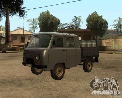 UAZ avec hayon élévateur pour GTA San Andreas