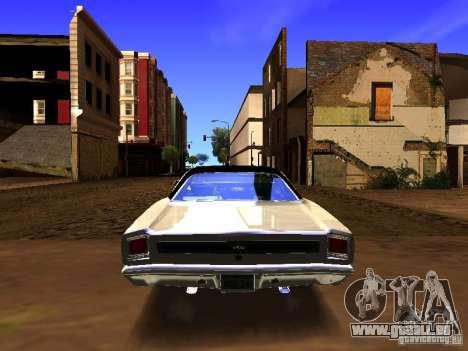 Plymouth GTX 1969 pour GTA San Andreas vue intérieure