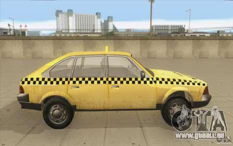 2141 Moskvitch AZLK Taxi v2 pour GTA San Andreas vue intérieure