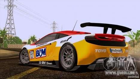 McLaren MP4-12C Speedhunters Edition pour GTA San Andreas salon