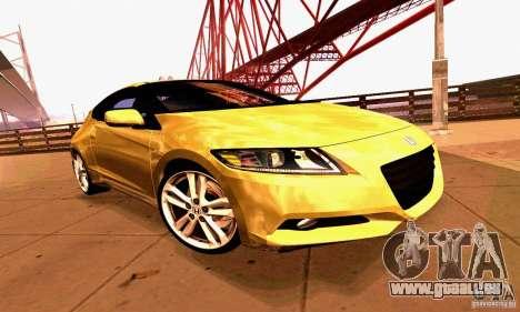 Honda CR-Z 2010 V2.0 für GTA San Andreas obere Ansicht