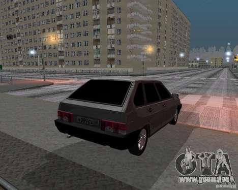 VAZ 2109 Spoutnik pour GTA San Andreas sur la vue arrière gauche