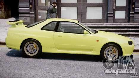 Nissan Skyline R-34 V-spec pour GTA 4 est une vue de dessous