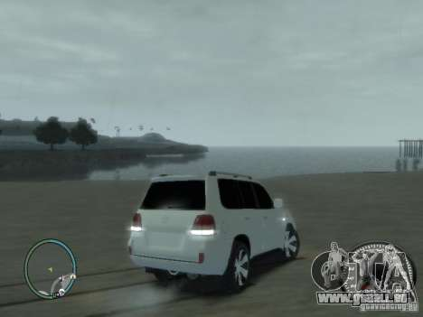 Toyota Land Cruiser 200 FINAL pour GTA 4 Vue arrière