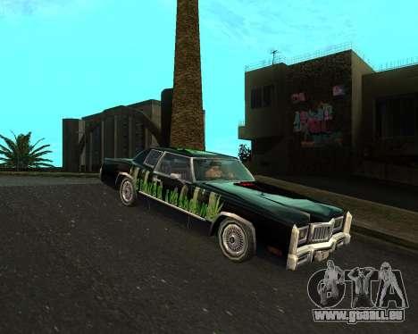 Cadillac Eldorado für GTA San Andreas Rückansicht