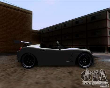 Saturn Sky Roadster pour GTA San Andreas vue intérieure