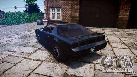 KITT Knight Rider für GTA 4 hinten links Ansicht