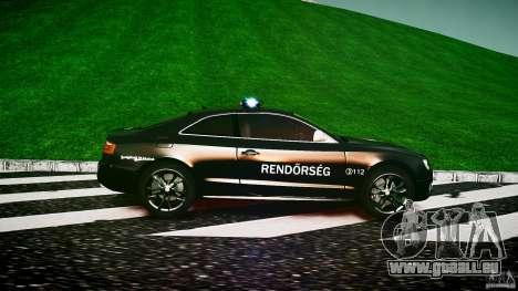 Audi S5 Hungarian Police Car black body pour GTA 4 est une gauche