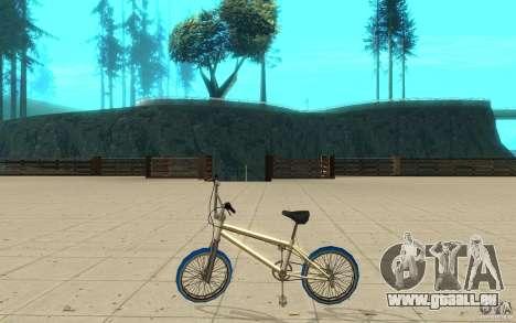 Zeros BMX BLUE tires pour GTA San Andreas laissé vue