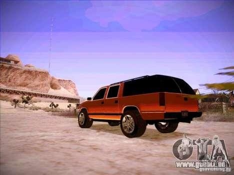 Chevrolet Suburban 1998 pour GTA San Andreas sur la vue arrière gauche