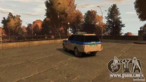 Land Rover Range Rover Police pour GTA 4 est une gauche