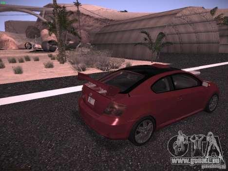 Scion tC pour GTA San Andreas laissé vue