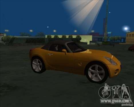 Pontiac Solstice pour GTA San Andreas laissé vue