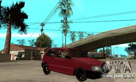 Fiat Uno Fire pour GTA San Andreas vue arrière