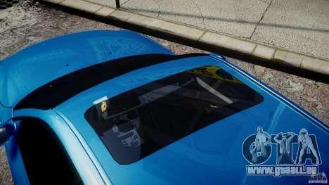BMW M5 E60 2009 pour GTA 4 vue de dessus