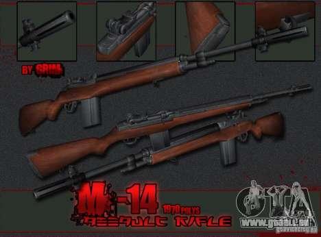 M14 pour GTA San Andreas deuxième écran