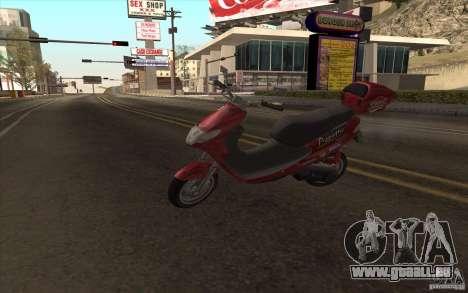 Suzuki Addres pour GTA San Andreas vue arrière