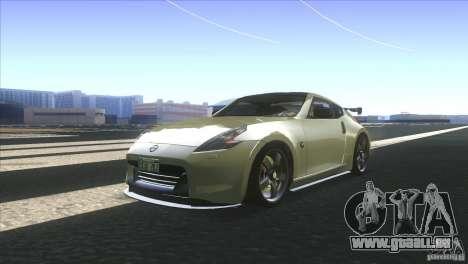 Nissan 370Z Drift 2009 V1.0 pour GTA San Andreas sur la vue arrière gauche