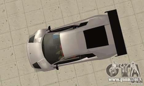 Lamborghini Murcielago R GT pour GTA San Andreas vue de droite