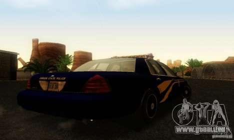 Ford Crown Victoria Orgeon Police pour GTA San Andreas laissé vue