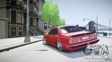 BMW M6 v1 1985 pour GTA 4 est un côté