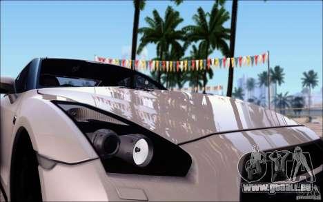 Nissan GTR 2011 Egoist (Version mit Schmutz) für GTA San Andreas obere Ansicht