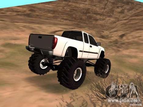 Chevrolet Colorado Monster pour GTA San Andreas laissé vue