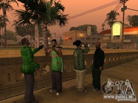 Nouveaux skins le Gang de Grove Street pour GTA San Andreas troisième écran