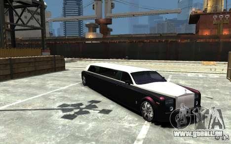 Rolls-Royce Phantom Sapphire Limousine v.1.2 pour GTA 4 Vue arrière