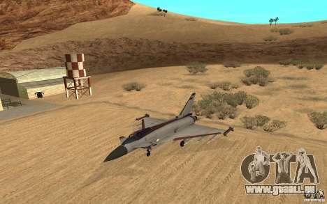 EF-2000 Typhoon V1.3 pour GTA San Andreas laissé vue