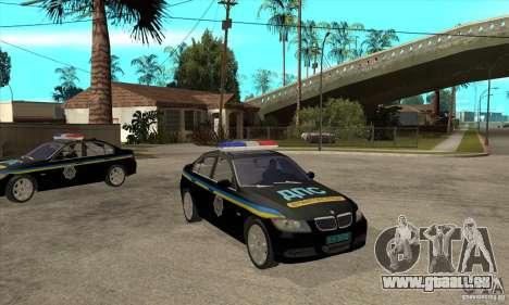 BMW 3 Serie DPS für GTA San Andreas Rückansicht