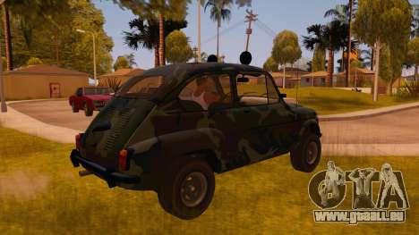 Zastava 750 4x4 Camo für GTA San Andreas rechten Ansicht