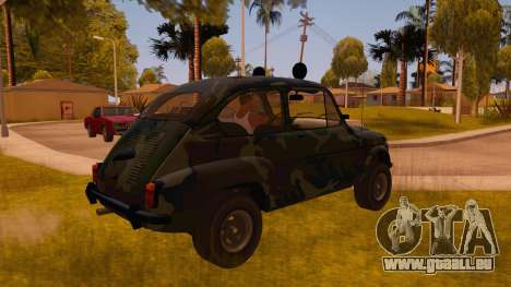 Zastava 750 4x4 Camo pour GTA San Andreas vue de droite