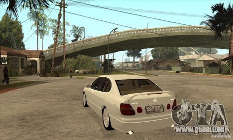 Lexus GS300 2003 für GTA San Andreas zurück linke Ansicht