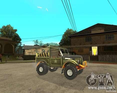GAZ 69 Testversion für GTA San Andreas rechten Ansicht