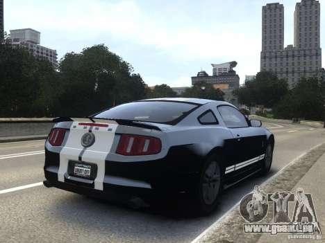 Ford Shelby GT500 2010 WIP pour GTA 4 est une gauche
