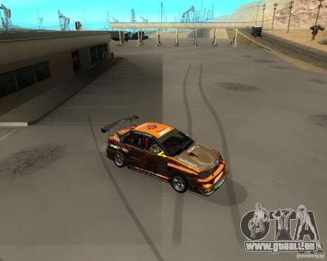 Subaru Impreza WRX Team Orange DRIFT SA-MP pour GTA San Andreas laissé vue