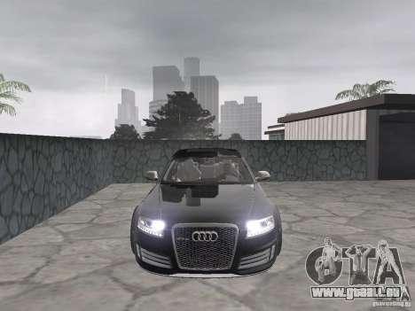 Audi RS6 für GTA San Andreas zurück linke Ansicht