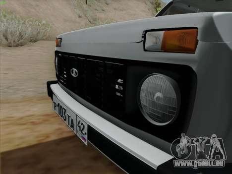 VAZ 2121 Niva pour GTA San Andreas sur la vue arrière gauche