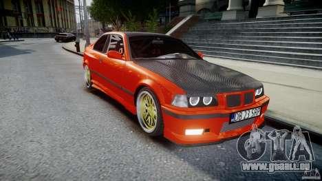 BMW E36 Alpina B8 pour GTA 4 est une vue de l'intérieur